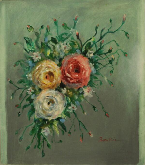 5 – Three Roses – white-yellow-pink – 38oz – 24w 27.5h 250