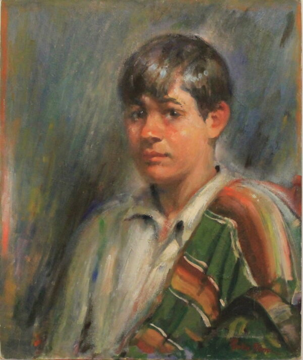 R21 – Young boy colorful poncho – 30oz – 20w x24h 200w