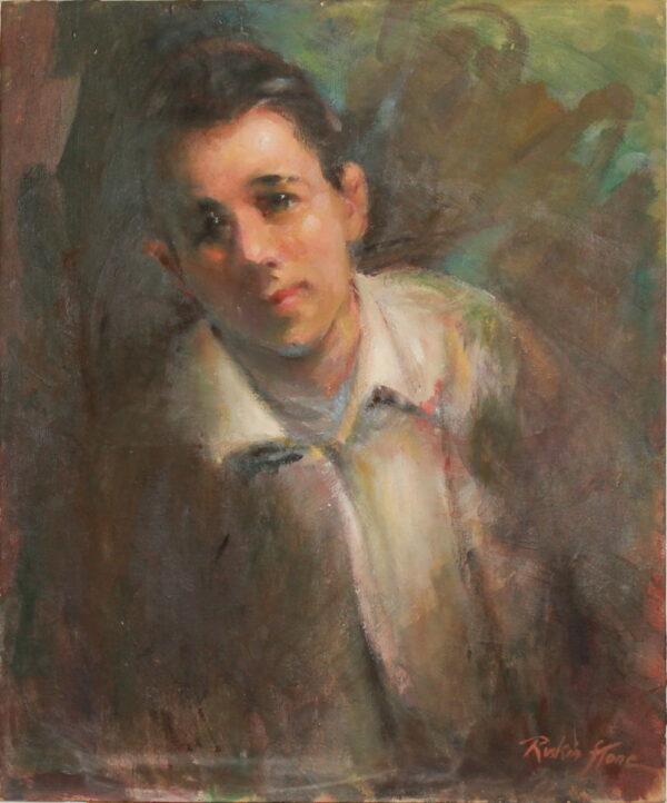 R8 – Boy white shirt under jacket – 32oz – 20w x24h 175w