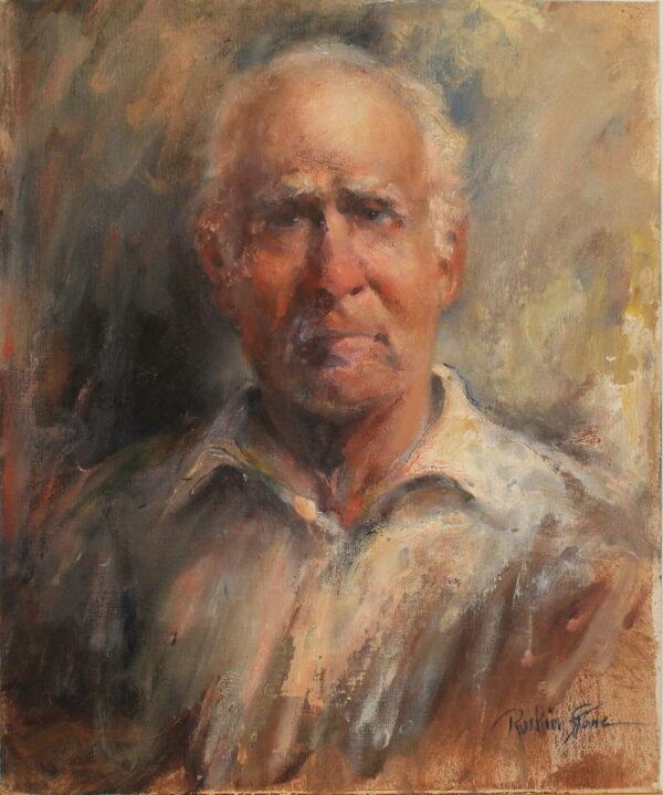 R130 – Elderly man – 20w x24h 27oz
