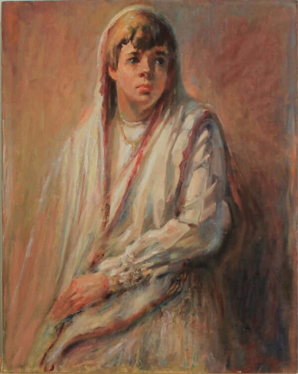 R142 – Young lad in a white robe – 24w x30h – 43oz