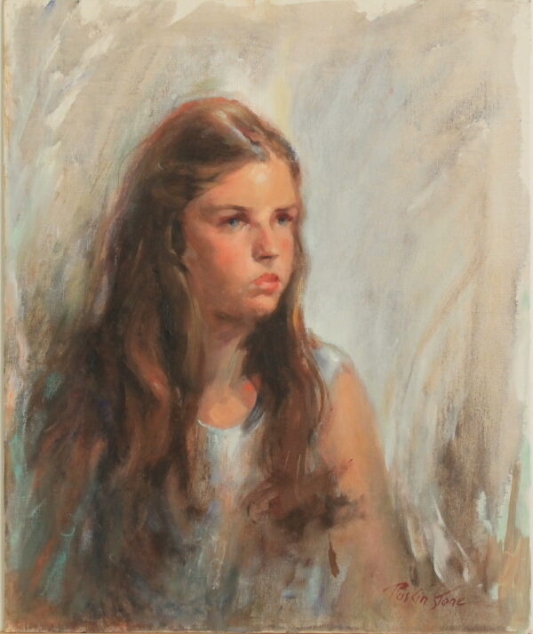 R146 – Young girl – 20w x24h – 22oz