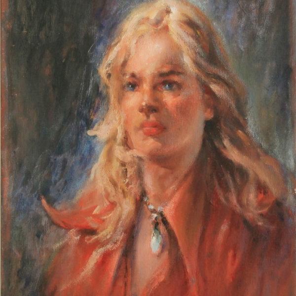R147 – Blonde woman – 20w x24h – 30oz
