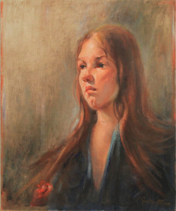 R148 – Young red haired girl – 20w x24h – 24oz