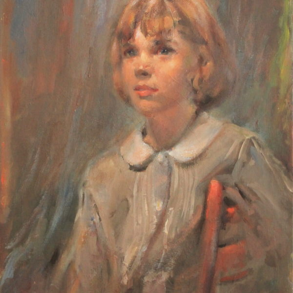 R149 – Young girl setting in a chair – 20w x24h – 26oz