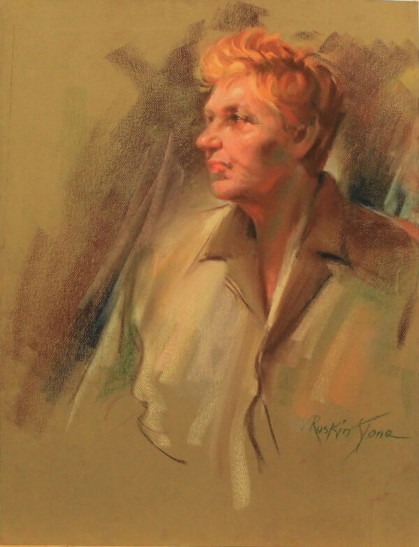 R87 – Golden haired woman – 19w x25.5h – 400
