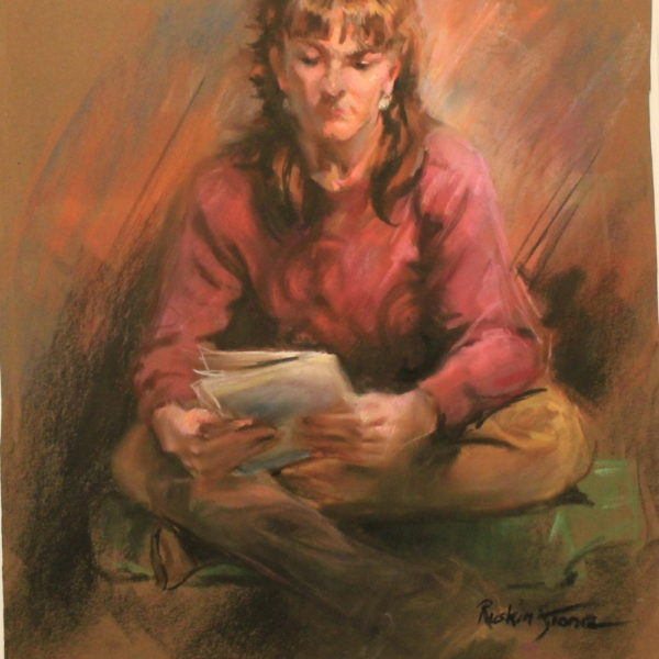 R101 – Young lady reading literature – 22w x26h – 400