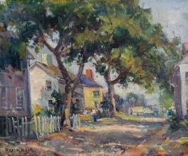 EN11 – Rockport street scene – 24w x20h – 1985 signed $3500