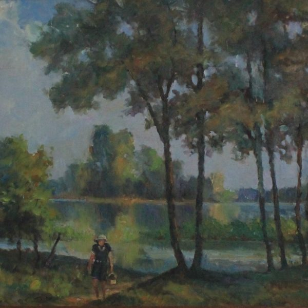 EN10 – Maumee river Otsego park with Vardinique – 30w x24h – not signed