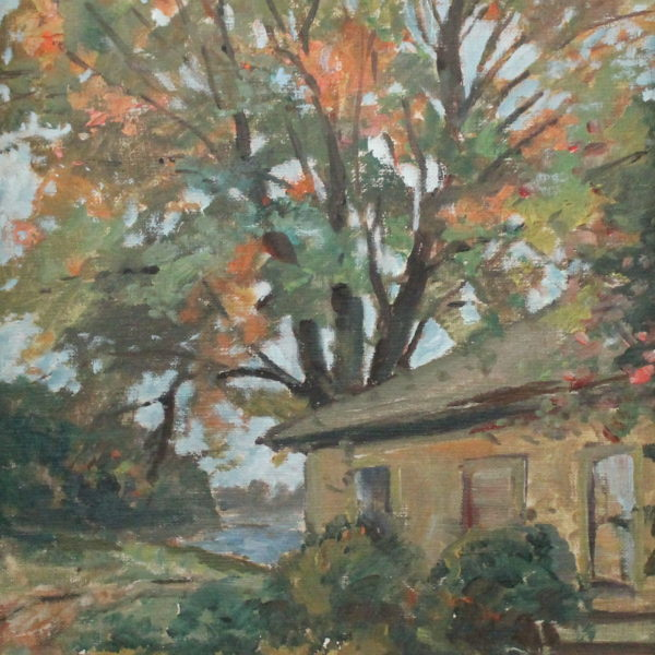 EN20_E_North_House by the lake_ 12w x 16h_not signed