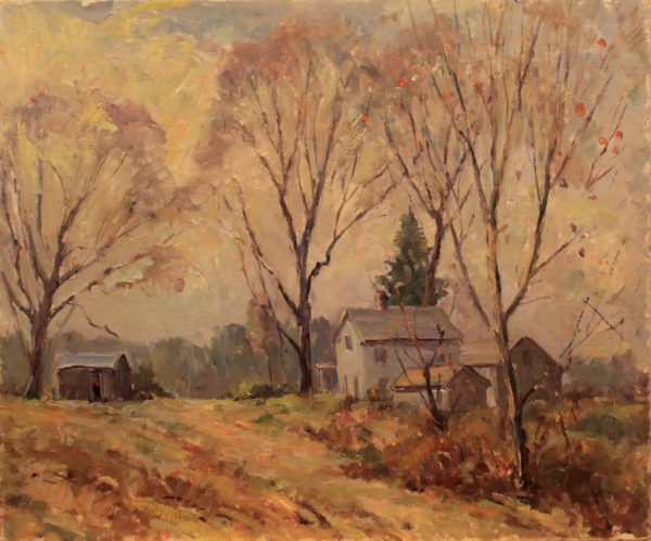 EN22_E_North_Farm in early fall_24w x 20h – not signed