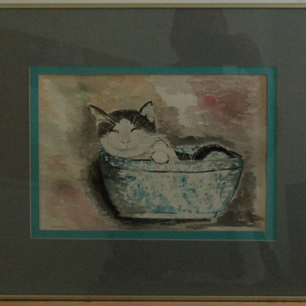1101 – watercolor- 12_1-4w x 8_1-2h – framed size 20_1-4w x 16_1-4h- 225