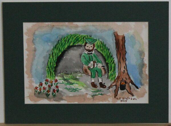 1117 – Happy St Patricks Day – Happy St Patricks Day 2 – 8_75w x 5_75h – framed size 11_75w x 8_75h – 70