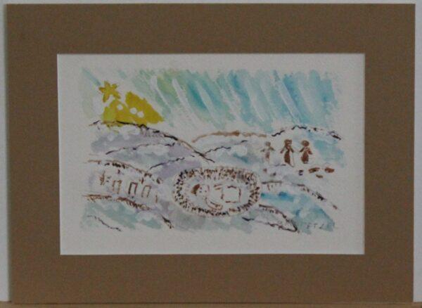 1123 – Manger Scene – 8_75w x 5_75h – framed size 11_75w x 8_75h – 70