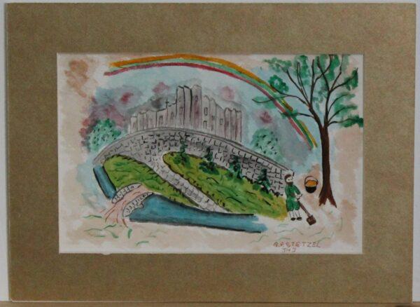 1126 – Happy St Patricks Day – Happy St Patricks Day 5 – 8_75w x 5_75h – framed size 11_75w x 8_75h – 70