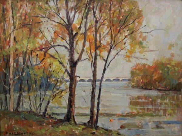 EN39_E_North_Maumee River at Farnsworth park_1979_13H x 17W