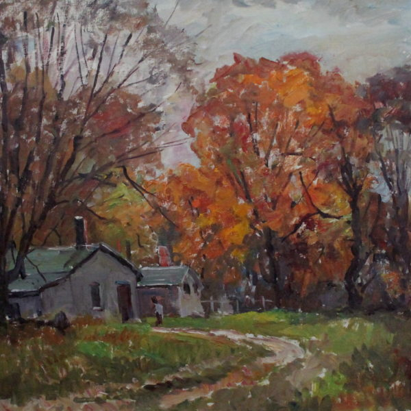 EN42_E_North_Autumn House in the woods_late 70s_18H x 24W