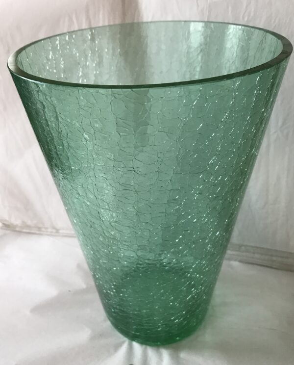 Green Crackle Vase Library House Gallery