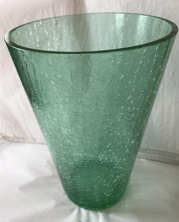 G444 – Green crackle vase – 6_5W x 10H – 65