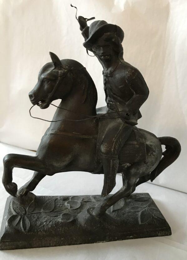 G460 – George Custer on horse – Iron Metal – 8W x 9_5H – 150