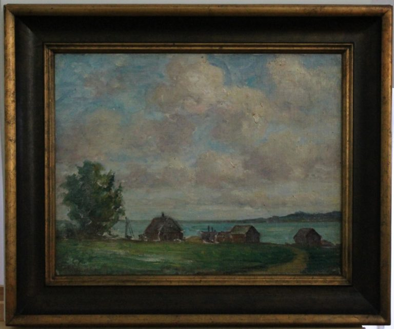 EN46 – Bay De Noc – signed Frank North(son) – 18w x 14h – 23_5 x 2 x 19_5 – 85oz