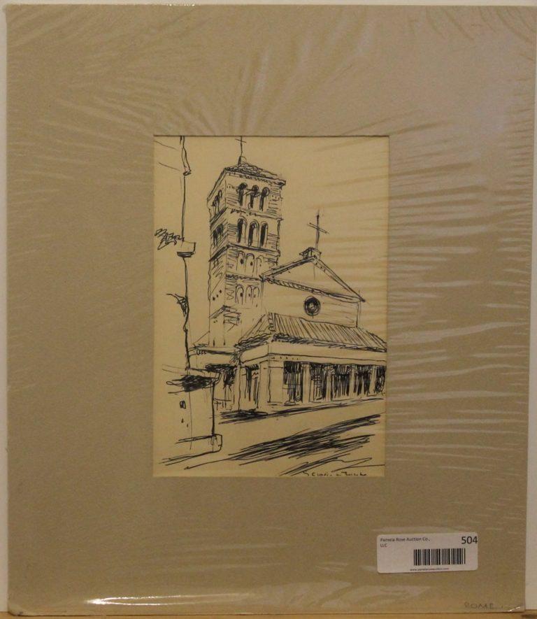 CJ14 – Pen Luk Church – watercolor – 7oz – 6w x 9h – 94