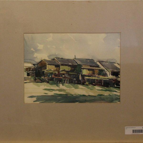 CJ19 – House on the river – Kyoto Japan – watercolor – 13oz – 9w x 12h -244