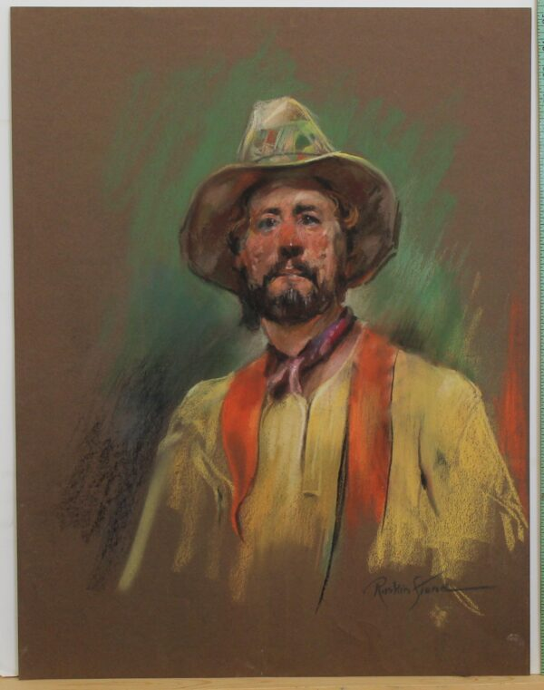 R164 – bearded man in yellow – 19_5w x 25_5h