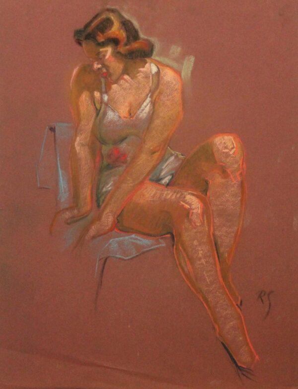 R187b Brunette in lingerie