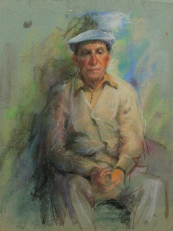 R197 Man wearing a flat cap