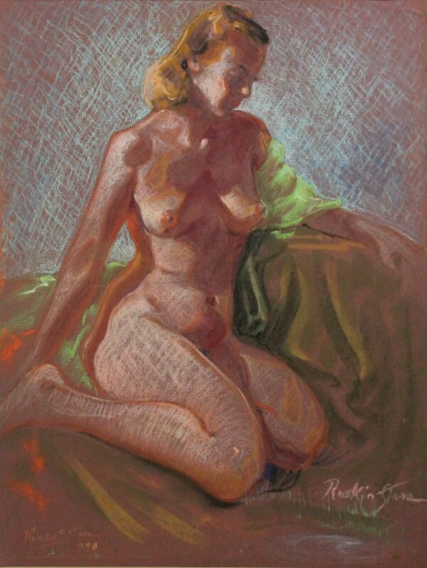 R199 Nude redhead woman