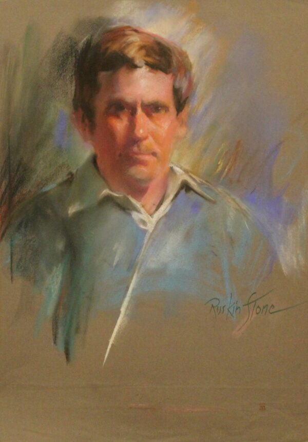 R209 Middle aged man with a stern look