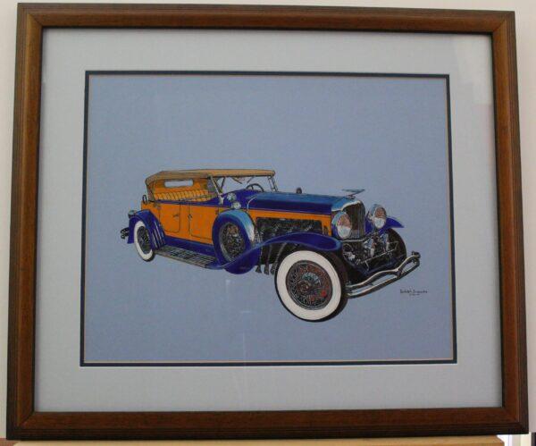 1932 Dusenberg J Tourist 26.5w x 22.5h 5.2lb 350