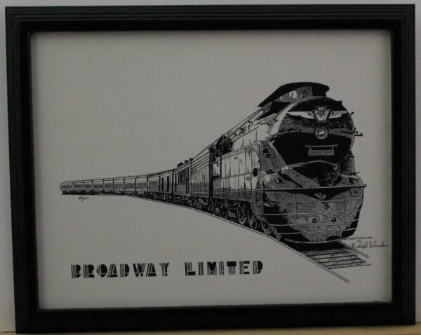 Broadway Limited – New York to Chicago 1938-not behind glass 15.75w x 12.5h x .75 2.5lb 60